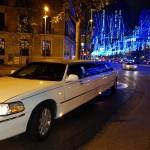 Limusinas en Madrid en Navidad en la Puerta de Alcala